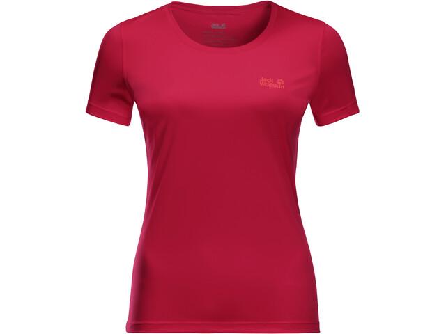 Jack Wolfskin Tech T-shirt Damer, scarlet